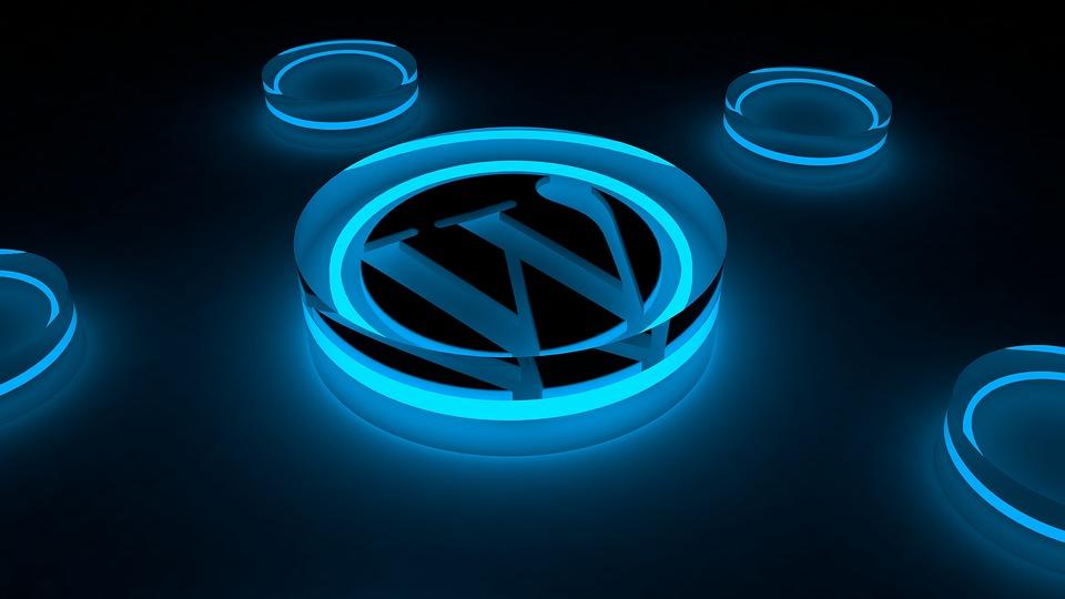 Blog Internet Hosting Glow Icon Logo Wordpress
